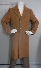 Vintage KARAMAI 100% Cashmere Tan Winter Jacket Over Coat Mens Size 40