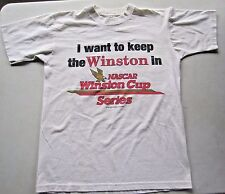 Vintage 1995 Nascar Winston Cup Series Shirt Let Nascar Make Rules Not FDA RARE