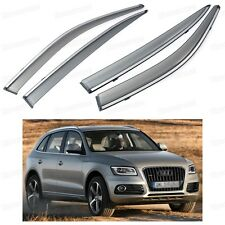 Car Front & Rear Window Visor Deflectors Vent Shade for Audi Q5 2009-2015 SUV