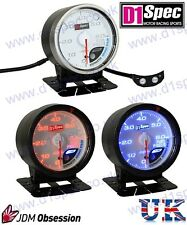 D1 SPEC FUEL PRESSURE GAUGE 52mm WHITE IMPREZA WRX STI SUPRA MR2 EVO 7 8 350Z