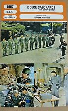 US War Movie The Dirty Dozen Lee Marvin Ernest Borgnine French Film Trade Card