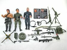 1985 RAMBO Col TRAUTMAN Gen WARHAWK Action Figure + weapons Lot Vintage Coleco