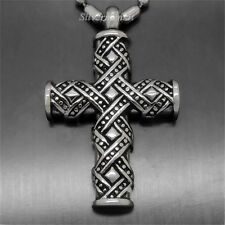 "Vintage Cross Cremation Jewelry Keepsake Memorial Urn Pendant With 21"" Necklace"
