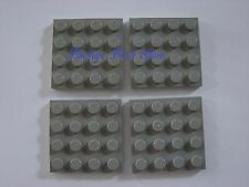 Lego LIGHT GRAY PLATES 4x4 Plate -Lot/4 6086 497 5571 10030 5590 7470 6090 4563