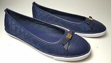 size 9.5 Tommy Hilfiger Beth Dark Blue Ballet Flats Bow Slip-on Women's Shoes