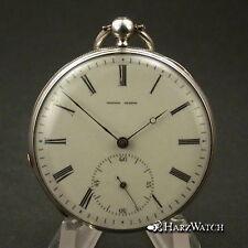 DUNAND GENEVE Lepine Taschenuhr  Pocket Watch Silber ca. 1875