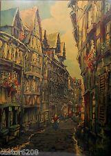AFFICHE LISIEUX LITHOGRAPHIE 1923 COULEURS Jean-Charles CONTEL 78,5x57