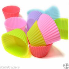 12 Pcs Multi Colour Silicone Cake Muffin Cupcake Mold Round Shape Baking Mould