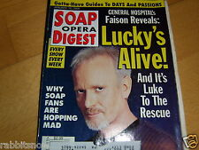 SOAP OPERA DIGEST 1/2000 ~Anthony Geary~John Mc Cook~Jason Cook & Kirsten Storms