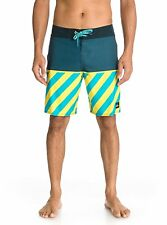 NEW QUIKSILVER YOUNG GUNS SWIM TRUNKS BOARD SHORTS SZ 33 SURF $62 BLUE YELLOW