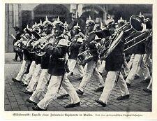 Militärmusik Kapelle eines Infanterie-Regiments in Berlin Zeitschriftenfoto 1908