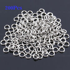 Hot 200 Pcs Fishing Solid Stainless Steel Snap Split Ring Lure Tackle Connector