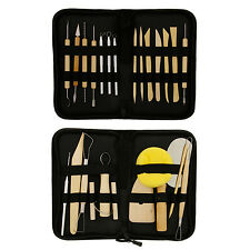 26-Piece Complete Pottery & Clay Sculpting Tool Sets with Cases