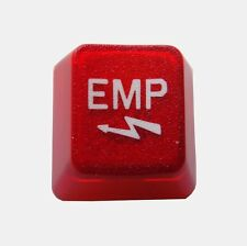 Translucent Red EMP Keycap Novelty Doubleshot Cherry MX Keycaps / Key cap