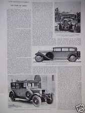 ARTICLE DE PRESSE 1930 PANHARD 16 CV 6 CYLINDRES EMPLOYÉ PAR LA SOCIÉTÉ MAROCAIN
