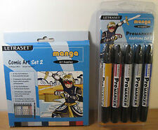 Letraset Promarker Comic Art Set 2 + Manga Additions 2