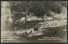 CA Richardson Grove RPPC c30 BATHING BEACH at STATE PARK Redwood Hwy Zan No. 520