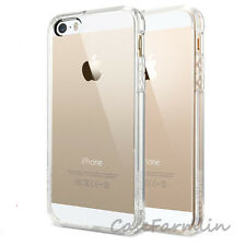 Clear Back Silicone TPU Bumper Case Cover For iPhone SE 5S 5 6S Screen protector