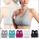Women Seamless Racerback Sports Bra Yoga Padded Stretch Workout Top Tank Comfort