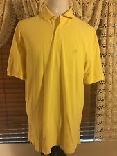 Mens VGUC BROOKS BROTHERS 1818 SS XL Extra Large Yellow Polo Shirt