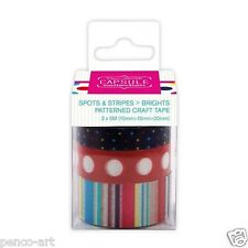Docrafts Papermania Patterned Craft Tape Capsule Collection Spots Stripes 3 x 5m