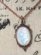 rose gold GOTHIC PENDANT ROMANTIC  MOONSTONE STEAMPUNK Necklace wedding prom