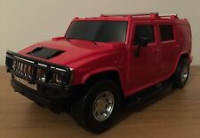 HUMMER TRUCK MONSTER RADIO REMOTE CONTROL CAR 1:16 STEERING WHEEL - 25CM Red