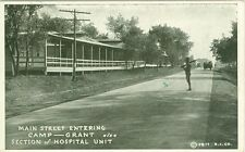 Camp Grant, IL  Entering Main Street, Section of Hospital Unit 1918