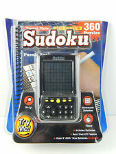 SUDOKU HANDHELD ELECTRONIC GAME TRAVEL W/ 360-PUZZLE BOOK, AUTO SOLUTIONS