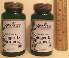 TWO, Ginger (300 mg) & Turmeric (300 mg), from Swanson      120 capsules (total)