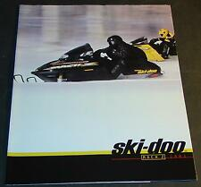 2001 SKI-DOO MACH Z SNOWMOBILE SALES BROCHURE 12 PAGES NEW   (662)