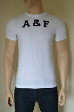 NEW Abercrombie & Fitch Railroad Notch White A&F Tee T-Shirt XL