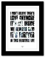 ❤ BIFFY CLYRO 57 ❤ song lyrics typography poster art  print - A1 A2 A3 or A4