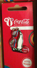 LONDON 2012 OLYMPICS COCA COLA BOTTLES SPORTS EQIPMENT SWIMMING PIN BADGE RIO