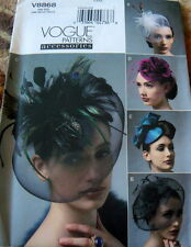 LOVELY VINTAGE STYLE HATS VOGUE SEWING PATTERN UNCUT