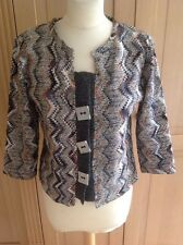 LOVELY PER UNA KNITTED CARDIGAN/JACKET UK SIZE 12 WORN GOOD CONDITION