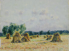 Aquarelle Ouges Côte d'Or 1942 Originale
