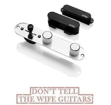 EMG T SYSTEM BLACK 2 ACTIVE SOLDERLESS TELECASTER PICKUP SET ( TELE FT & RT )