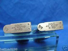 TWO Colt 8 Round 1911 Magazine 45 ACP Government Commander Stainless CLIP 8rd