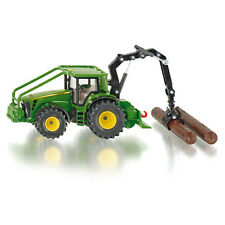 SIKU John Deere 8430 Forestry Tractor with 2 logs * 1:50 scale toy model * NEW