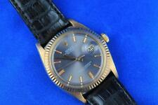Rolex 18kt Vintage Datejust Ref 1601 Mens Watch Rare Gray Dial 36mm