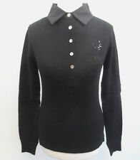 Canterbury Wool Mix Collared Sweater Black Small Box7363 E