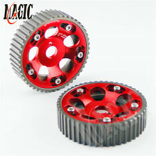 Adjustable Cam Gears Pulley Timing Gear for TOYOTA Supra 1JZ 2JZ RED 2PCS
