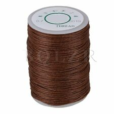 100m Handwork Leather Sewing Craft Hemp Round 0.7mm Waxed Thread Cord Brown