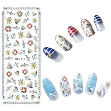 1 Sheet Nail Art Water Decal Fish Anchor Boat Transfer Sticker Manicure DS-216