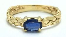 NATURAL 0.63 Carats BLUE SAPPHIRE Ring 14k GOLD * FREE APPRAISAL & RE-SIZING*