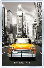 NEW YORK TAXI Nº1 FRIDGE MAGNET IMAN NEVERA