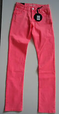BNWT MAYBEE MBE GIRLS SLIM FIT STUNNING NEON PINK JEANS AGE 16 YEARS 176 CMS
