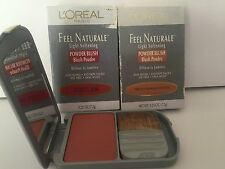 X1 LOREAL FEEL NATURALE LIGHT SOFTENING POWDER BLUSH PINCHED PICK #286 - NIP