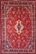 """Great Deal Hand Knotted Red 7x10 Hamadan Persian Oriental Area Rug 9' 11"""" x 6' 7"""